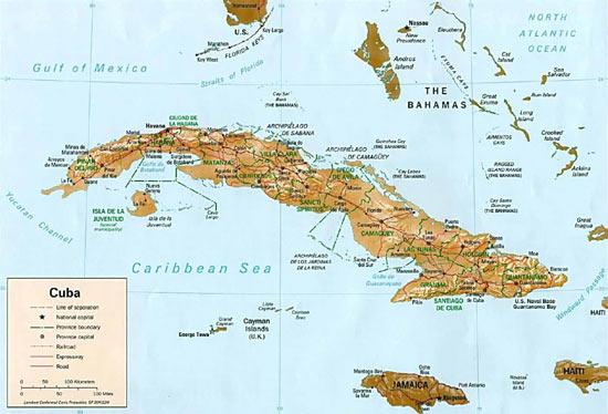 Cuba : Carte géographique