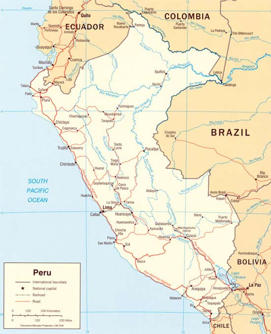 Super Perou : Carte géographique RW51